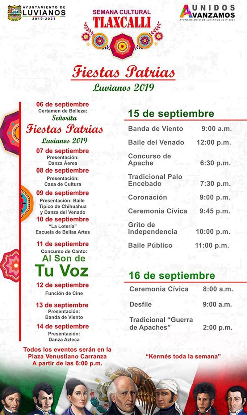 Semana Cultural Tlaxcalli, Fiestas Patrias 2019