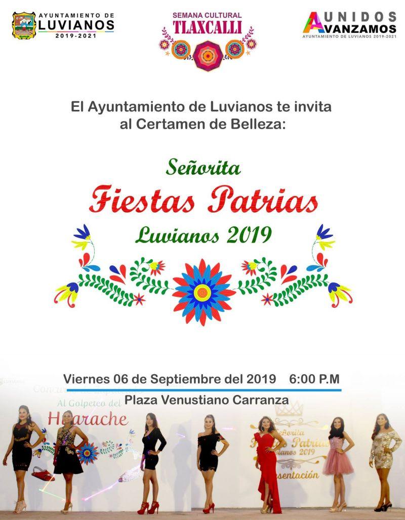 Certamen de Bella  A  Señorita Fiestas Patrias 2019