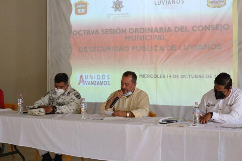 Octava Sesión Ordinaria de Seguridad Pública del Municipio de Luvianos