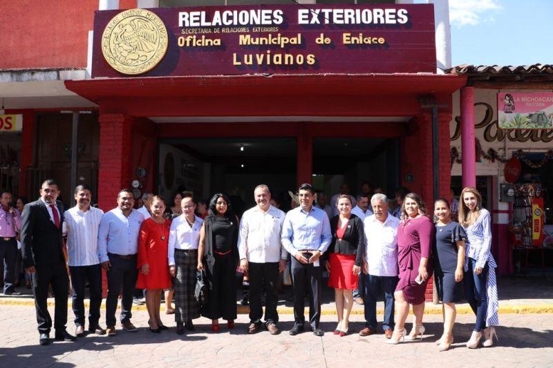 Inauguración de la Oficina Municipal Enlace Luvianos Relaciones Exteriores