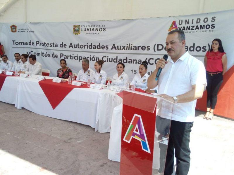 TOMA DE PROTESTA DE AUTORIDADES AUXILIARES (DELEGADOS) Y COMIT