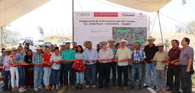 Inauguración de la Reconstrucción de la Carretera Luvianos-Trojes