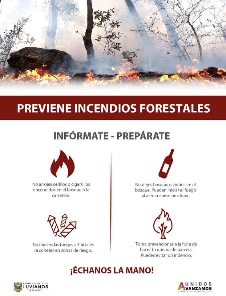 Campaña de prevención de incendios forestales
