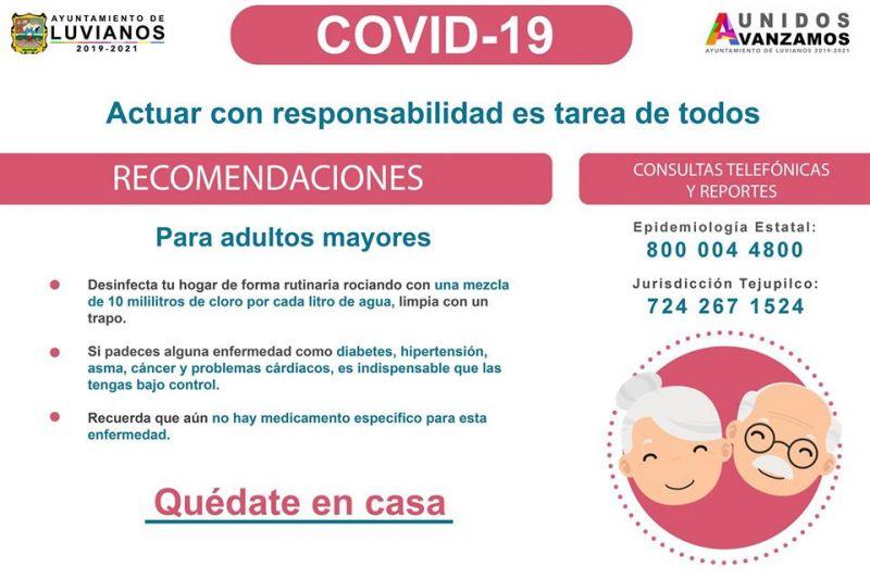 Recomendaciones Para Adultos Mayores Sobre el Covid-19