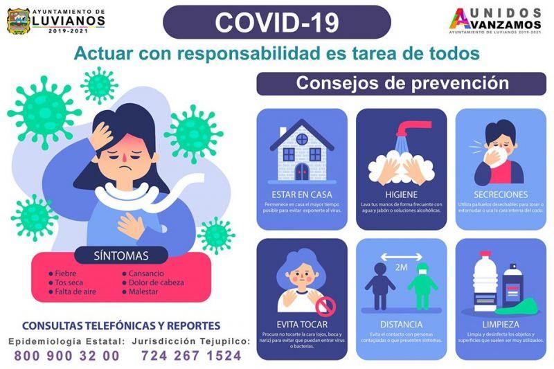 Consejos de Prevención por Covid-19