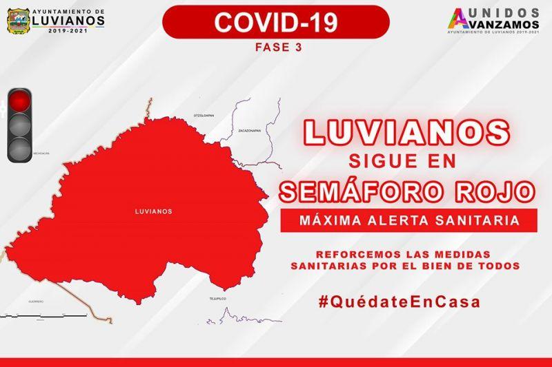 Luvianos Sigue En Semáforo Rojo.