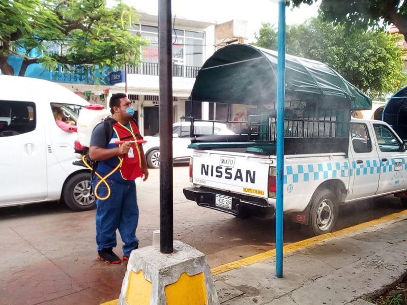 Continua La Sanitización en Espacios Públicos.
